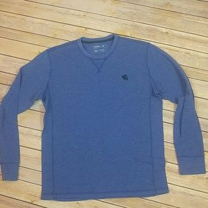 """Mens blue Express """"Waffle"""" Henley Size L"""